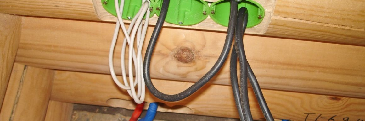Проводка для деревянных домов