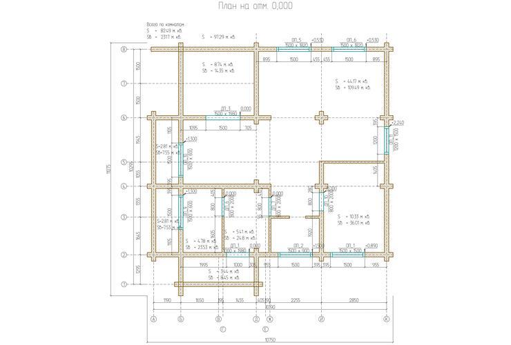 План этажа на отметке 0,000
