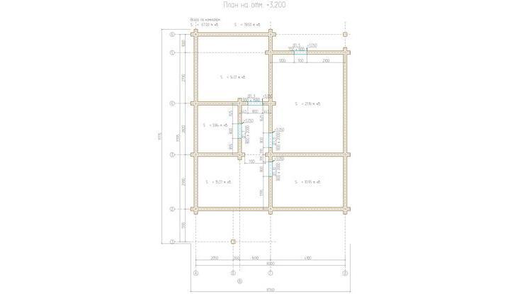 План этажа на отметке  3,200
