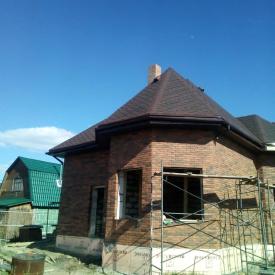 Облицовка фасада дома кирпичом